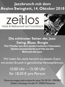 Jazzbrunch Zeitlos am 14.10.18